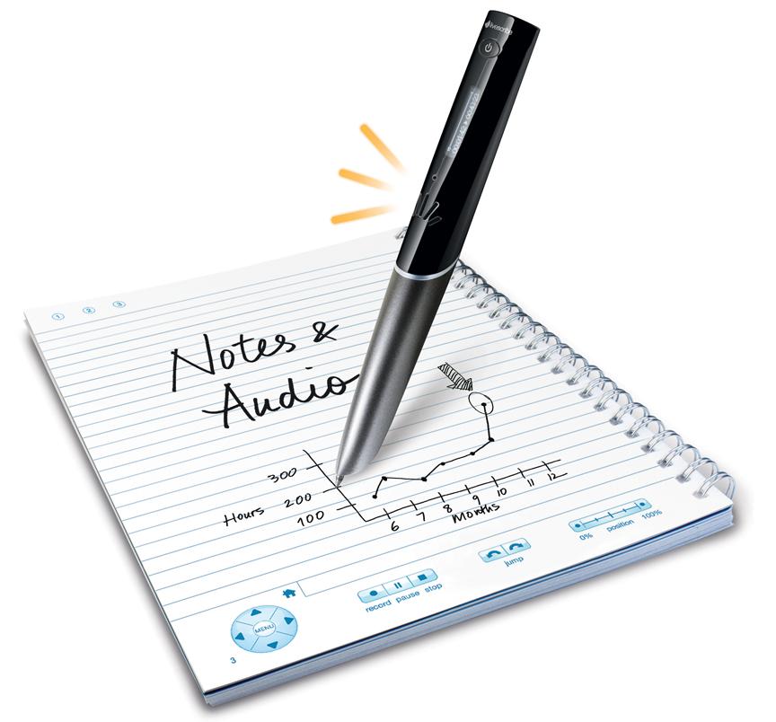 Bild aus Werbematerial des Livescribe wifi-Stifts